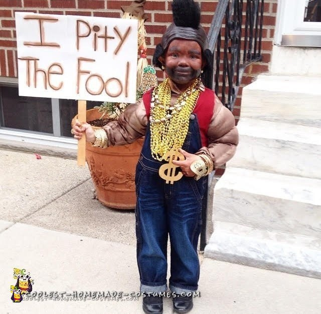 Cheap and Funny Mr. T Costume for a Boy