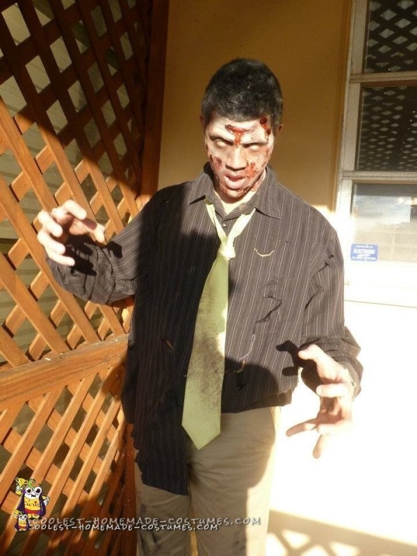 Zombie Costume with Rotting Flesh - 2