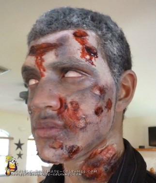 Zombie Costume with Rotting Flesh