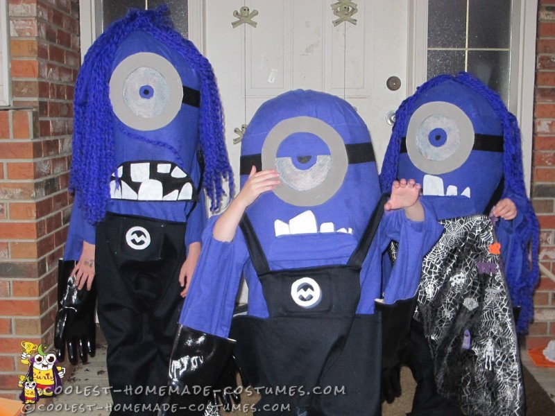 Three Evil Purple Minion DIY Costumes for Kids