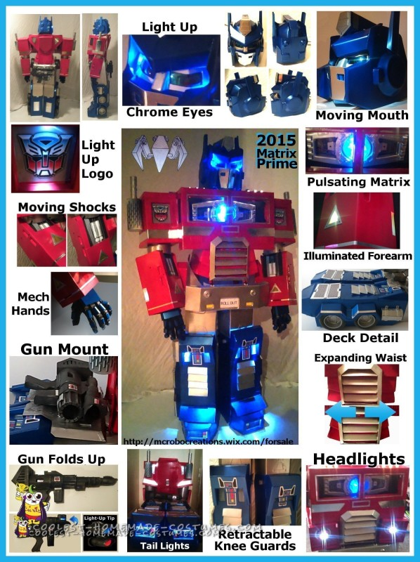 Cool Optimus Prime Costume with Light-Up Matrix - 1