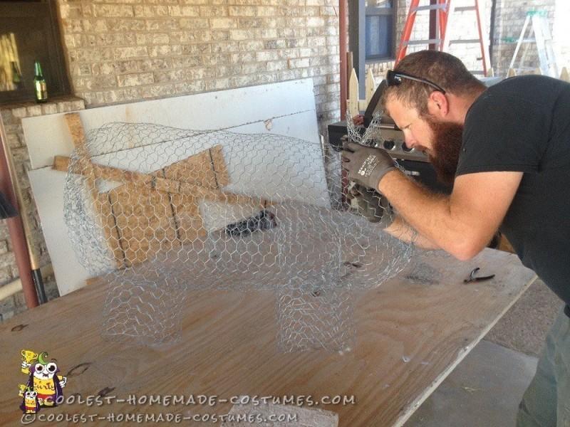 Building the pig frame