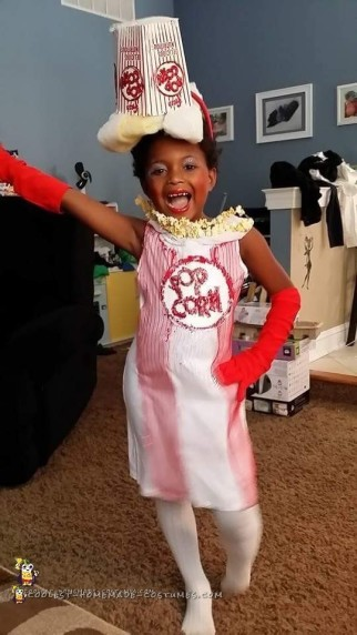 Popcorn Diva DIY Costume for a Girl