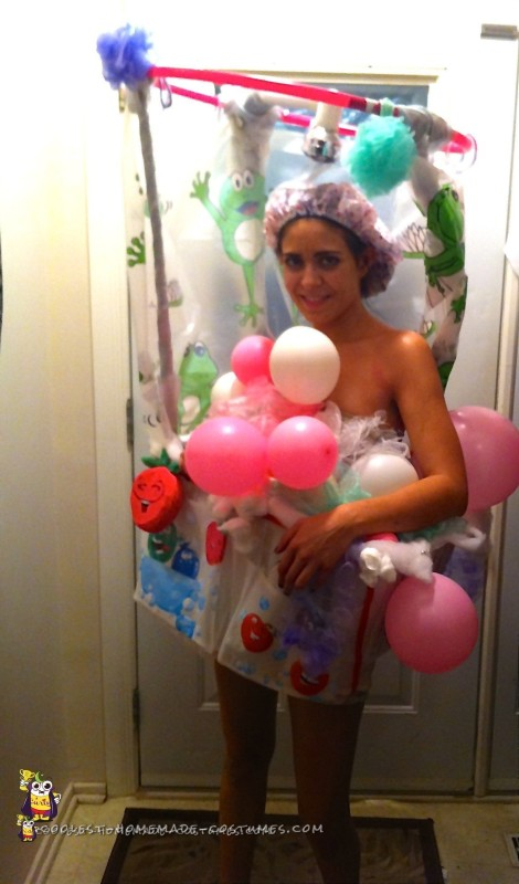 Cute Lady in the Shower Costume