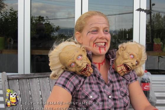 Terrific Tricephalic 3 Headed Girl Halloween Costume