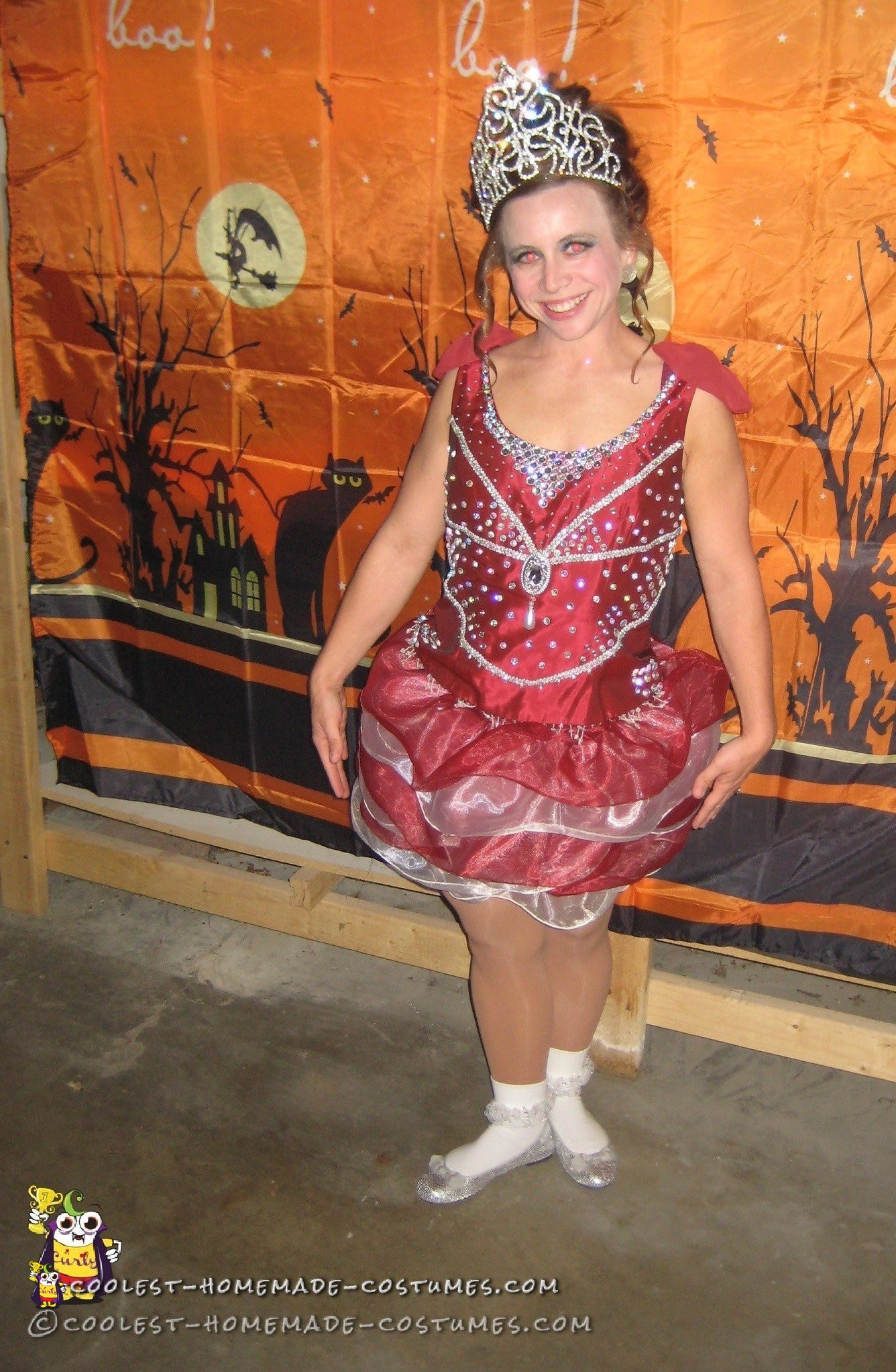 Upcycled DIY Toddlers and Tiaras Costume