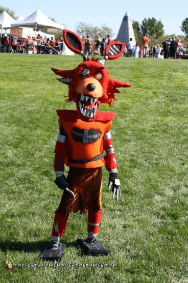 Nightmare FNAF Foxy Costume