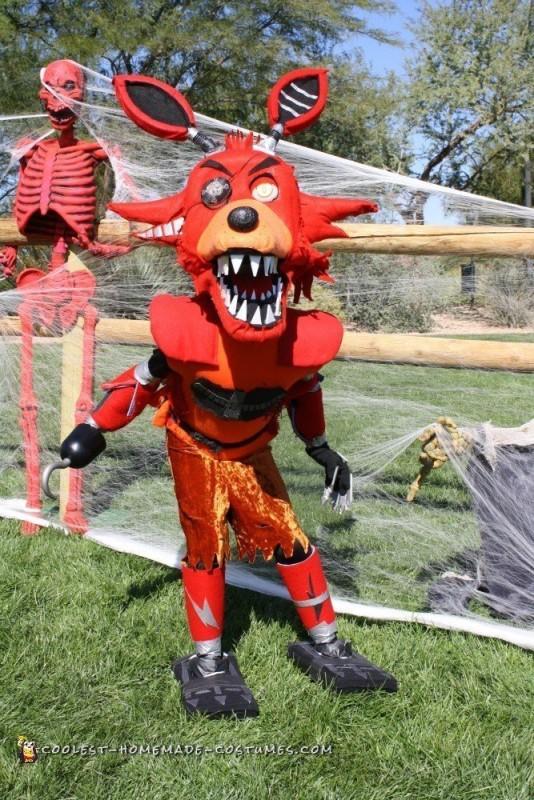 Nightmare FNAF Foxy Costume - 2