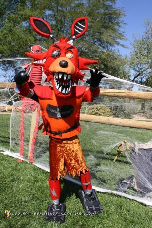 Nightmare FNAF Foxy Costume - 1