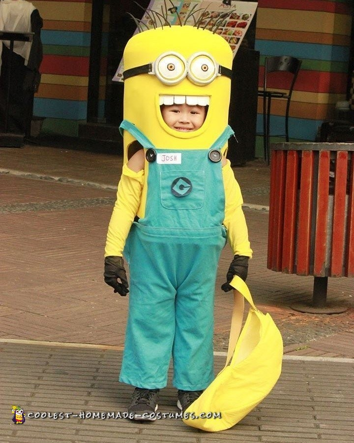 Priceless Minion Costume made with Love of a Grandfather
