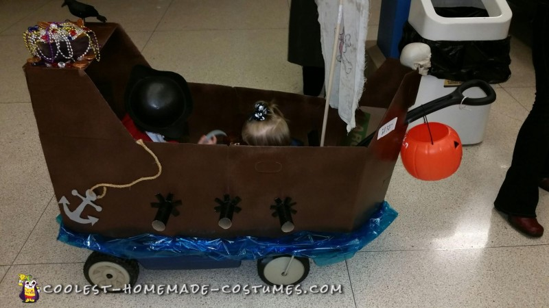 Ahoy! Pirate Ship Wagon with Two Pirates
