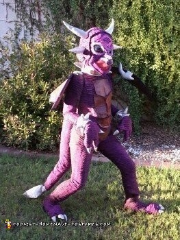 Alanadragon - Purple Lightening Breathing Dragon Costume