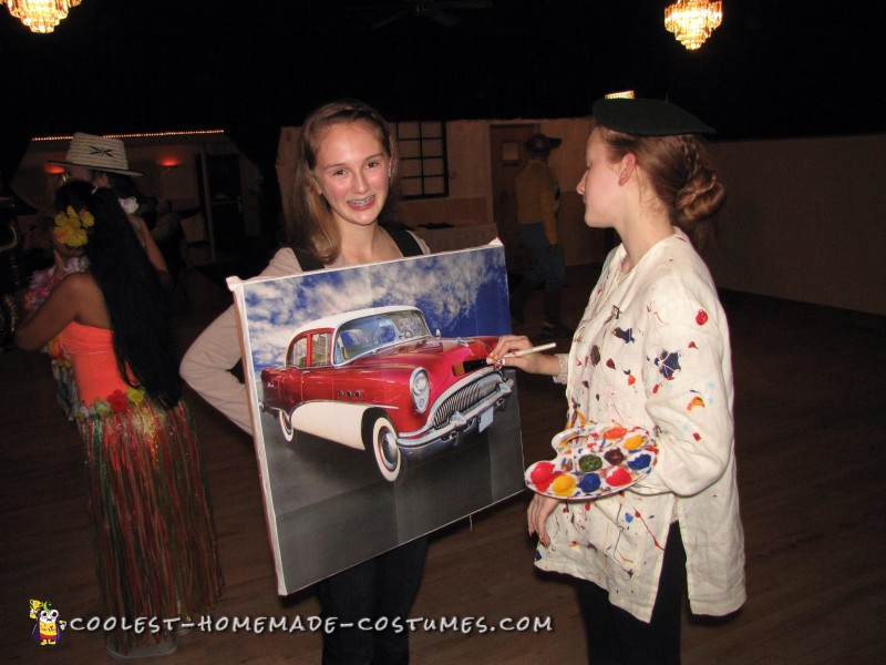 Artist and Painting Couples Costume - 1