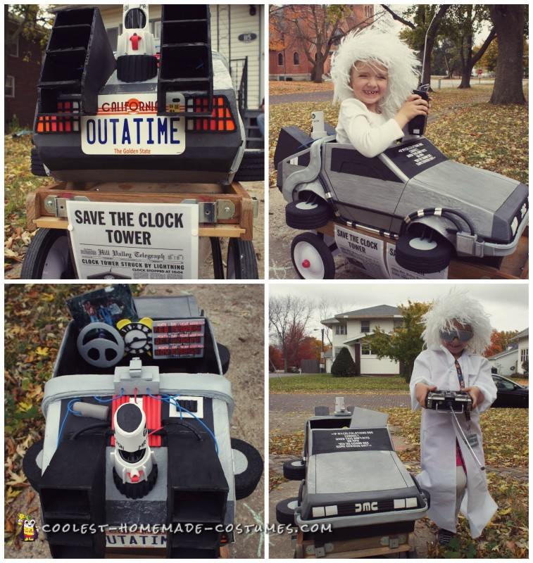 Awesome Homemade Back to the Future Doc Brown and Delorean Costume - 1