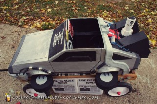 Awesome Homemade Back to the Future Doc Brown and Delorean Costume