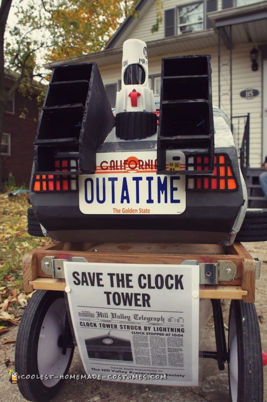 Awesome Homemade Back to the Future Doc Brown and Delorean Costume - 3