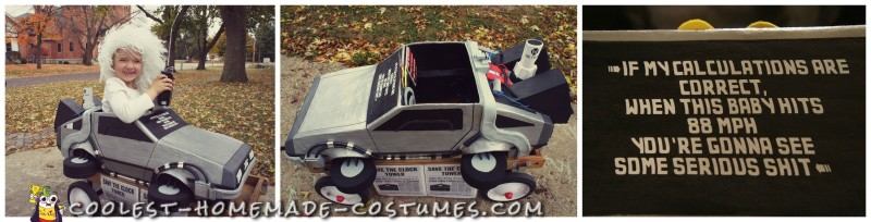 Awesome Homemade Back to the Future Doc Brown and Delorean Costume - 6