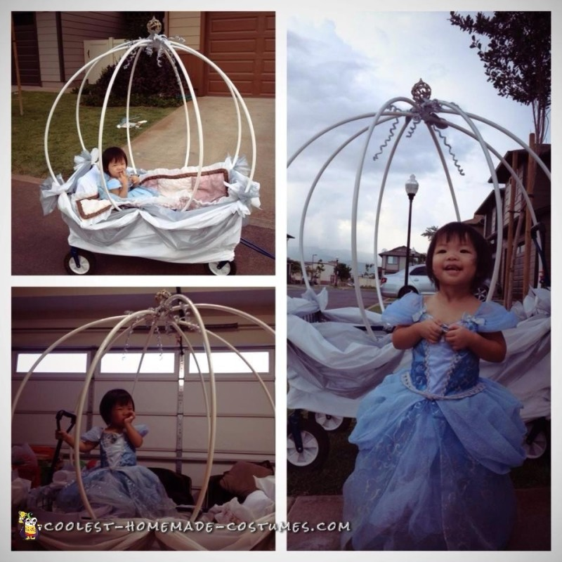 Cute Stroller Costume: Baby Cinderella in Carriage - 4