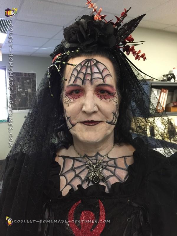 Spider bride makeup