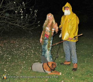 Coolest Fisherman and Mermaid Couple Costumes