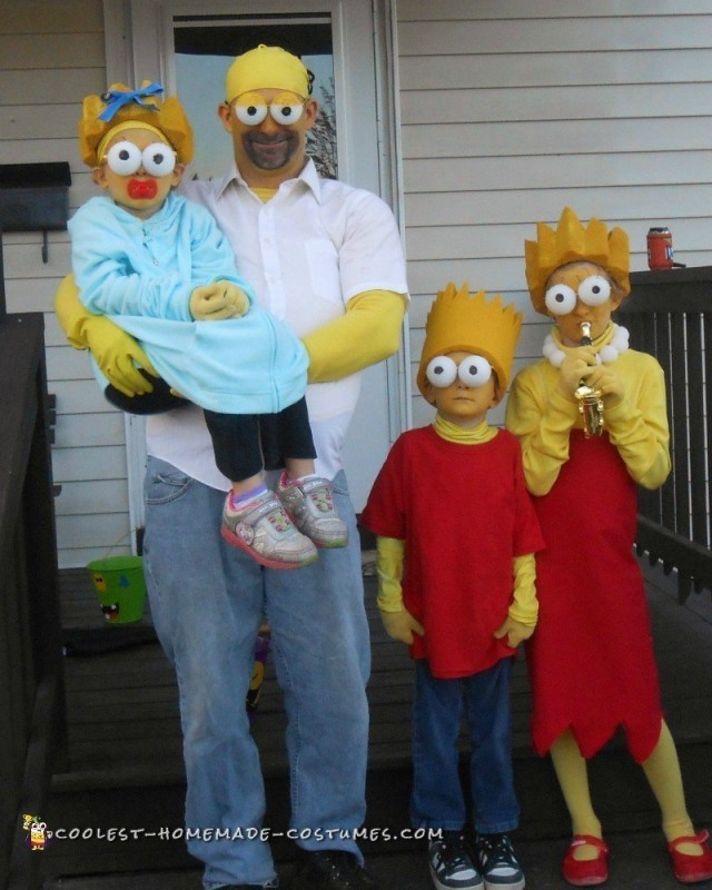 Coolest Family Simpson Costumes