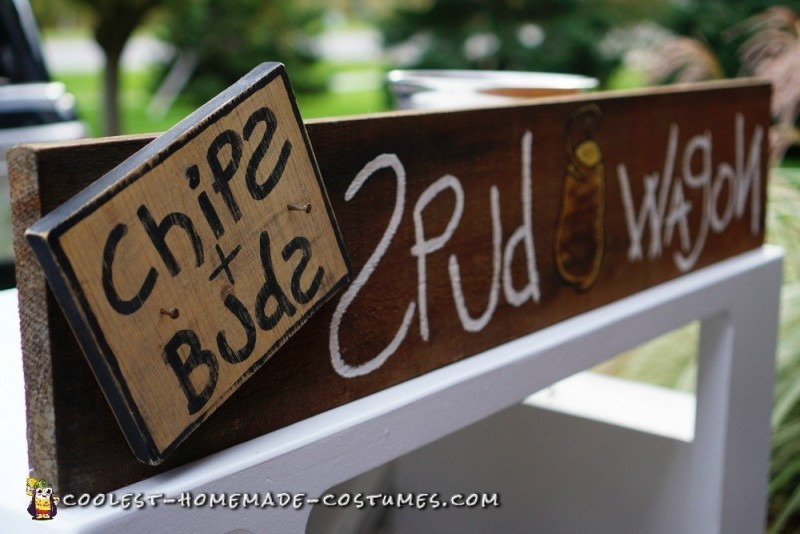 Chips and Buds Spud Wagon Signage