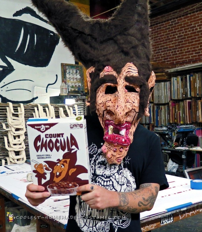 Count Chocula Paper Mache Mask