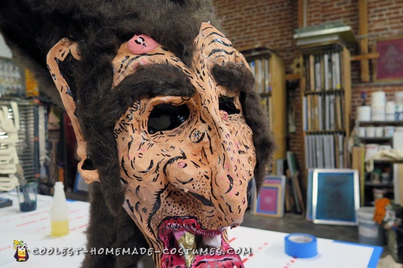 Count Chocula Paper Mache Mask - 3