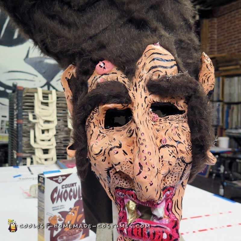 Count Chocula Paper Mache Mask - 2