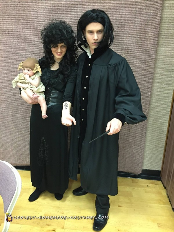Snape, Bellatrix and Cuest Dobby the House Elf Costume Ever!