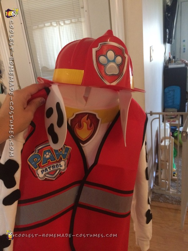 DIY Paw Patrol Toddler Costume