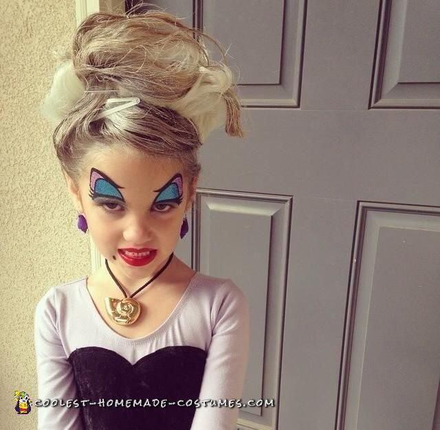 Fantastic Homemade Child Villain Costume – Ursula - 1