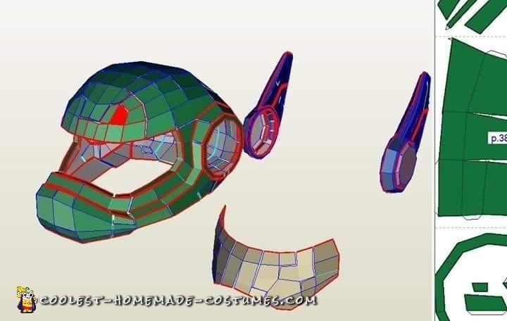 Pepakura template design