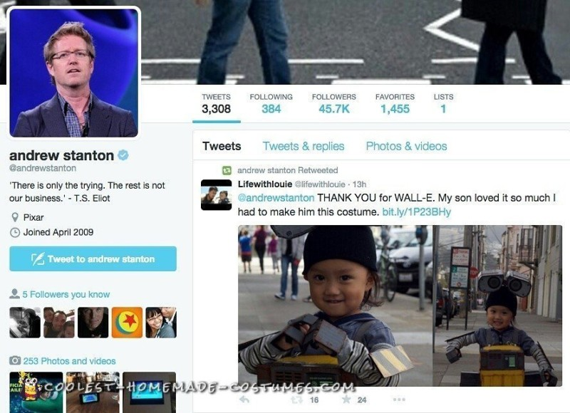 Retweeted by Andrew Stanton!