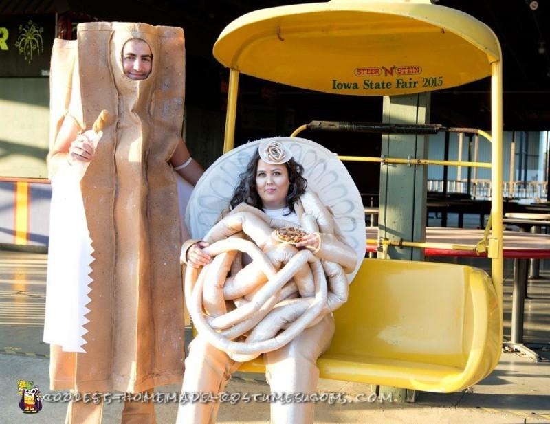 Funnel Cake and Churro Couple Costume