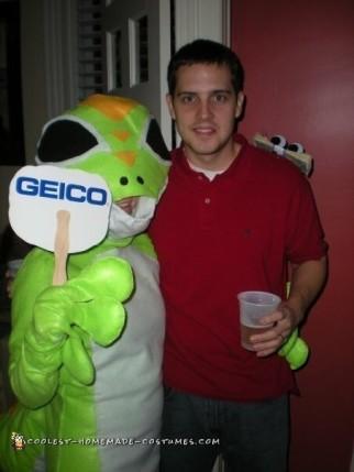 Geico Gecko and Customer Couple Costume