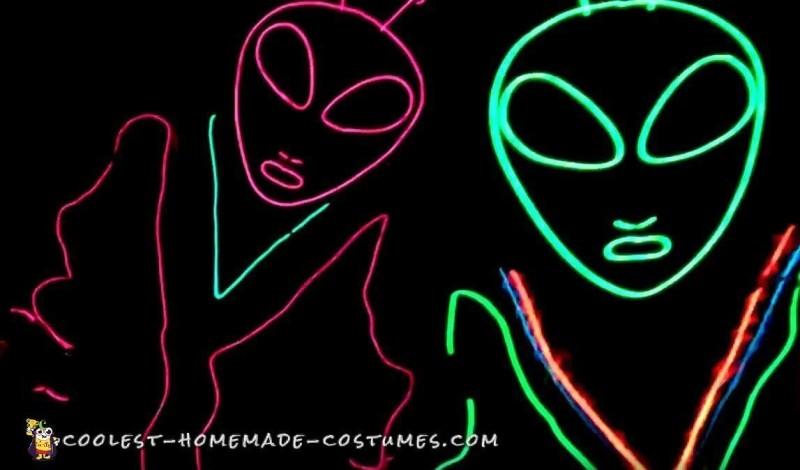 Fantastic Alien Glow in the Dark Costumes