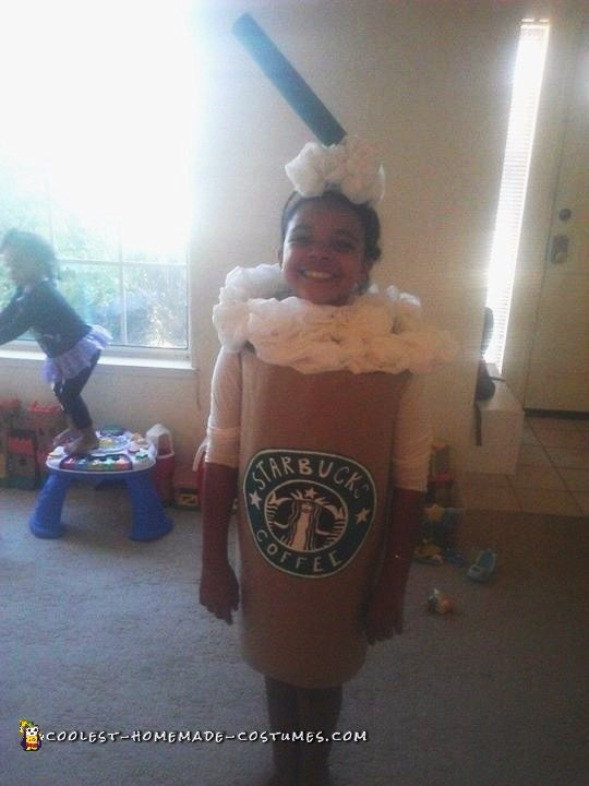 Homemade DIY Starbucks Drink Costume