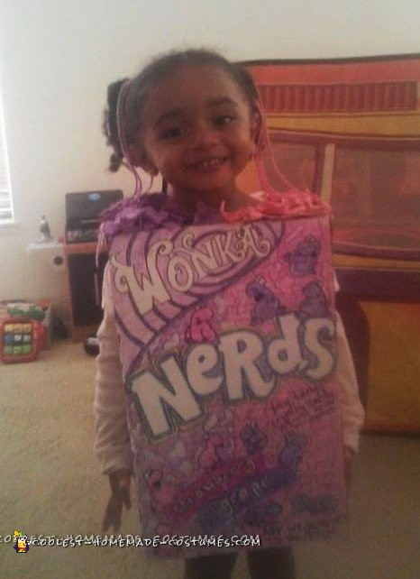 Homemade Nerds Candy Costume