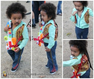 Cute Jimmy Hendrix Costume for a Toddler
