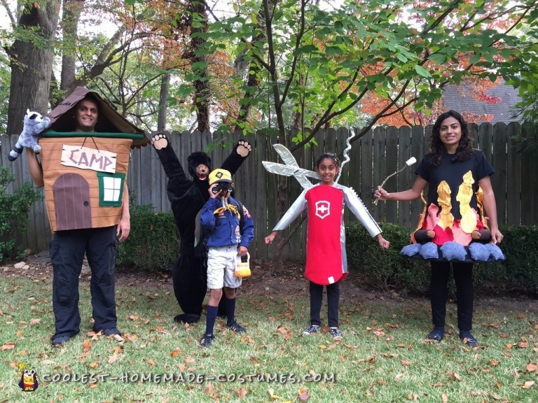 Let's Go Camping Family Costume Idea