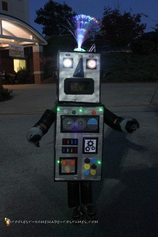 coolest home made flash light   Coolest Homemade Costumes   DIY Robot Costume that Lights Up!