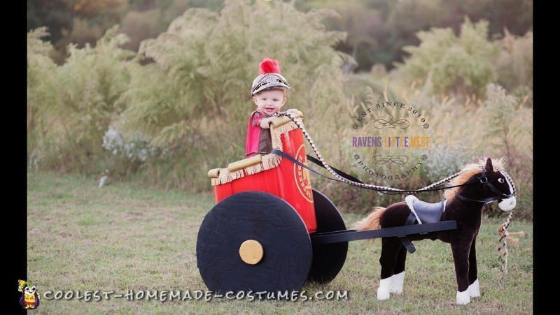 Little Roman Soldier and Chariot Costume