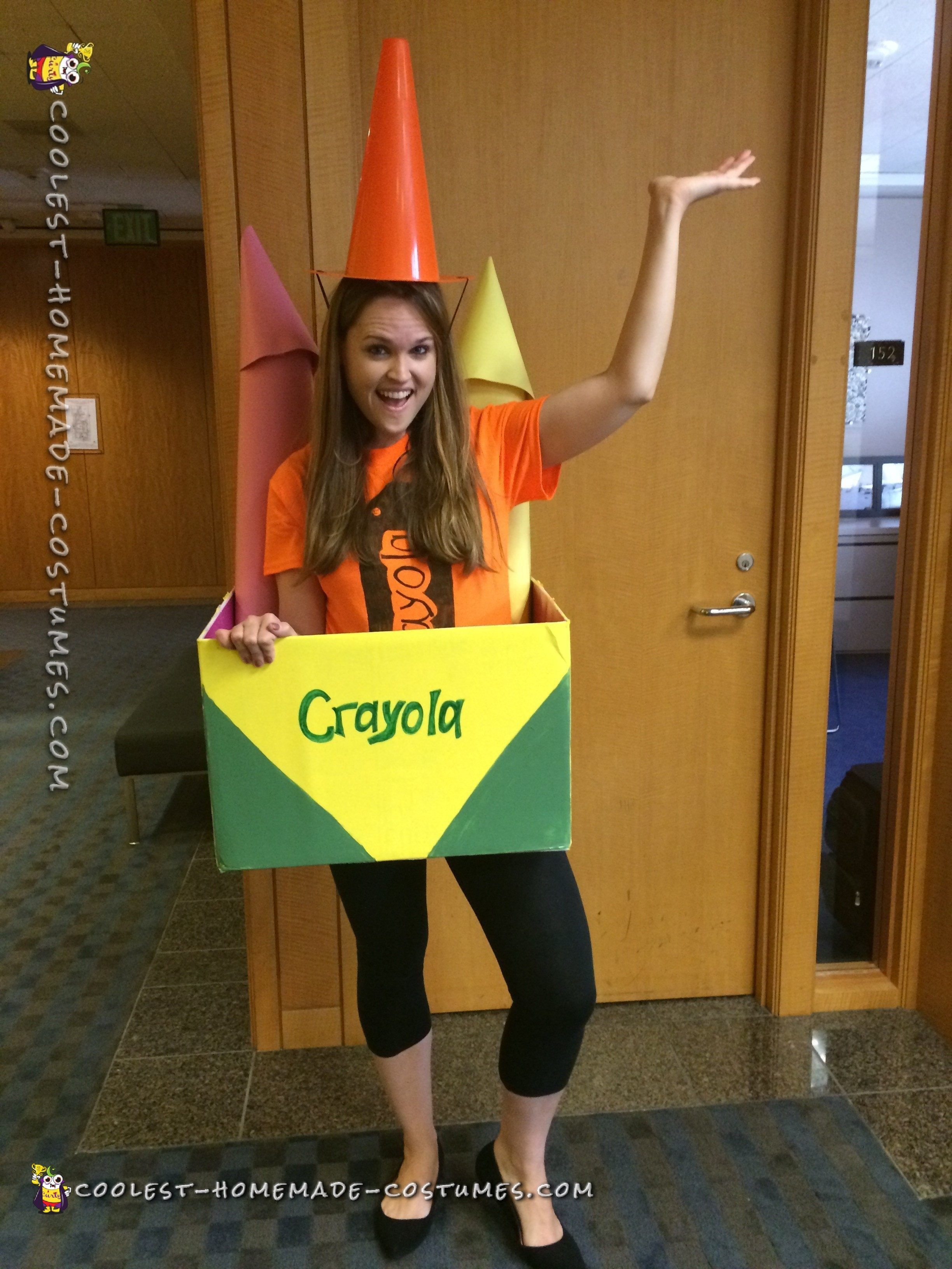 cool out of the box homemade crayon costume idea