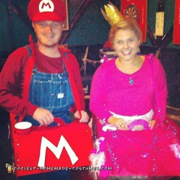 Mario Cart and Princess Peach Couple Costume