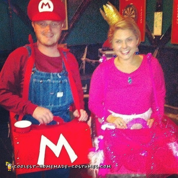 Mario Cart and Princess Peach Couple Costume - 2
