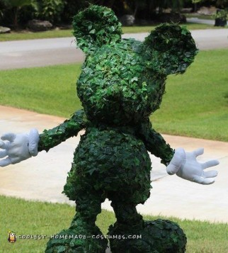 Incredible Topiary Mickey Mouse Costume