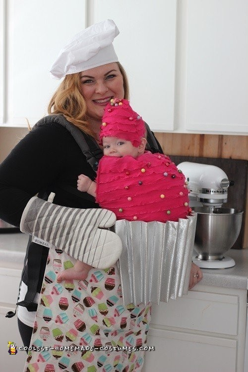 Mommy And Me Babywearing Costume The Baker And Her Cupcake