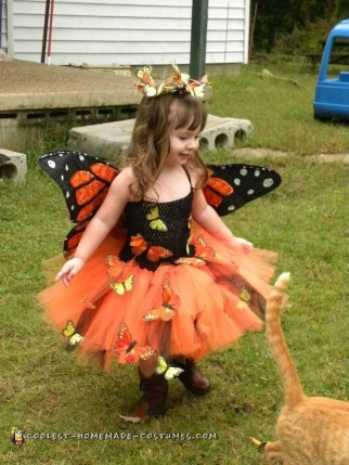 Cute Handmade Toddler Butterfly Costume