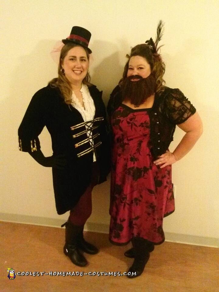 Plus Size Bearded Lady Circus Sideshow Costume